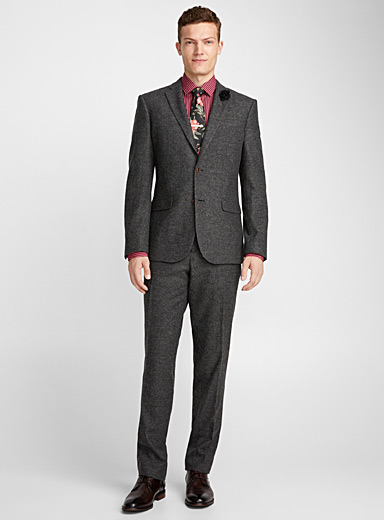 Ashy Donegal jacket  London fit-Semi-slim