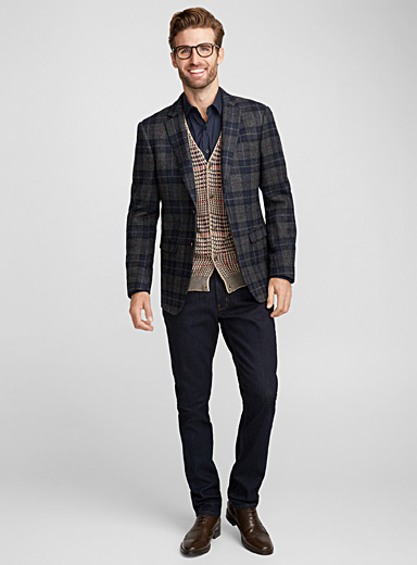 Heritage check jacket <br>London fit-Semi-slim