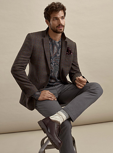 British check jacket  Berlin fit-Regular