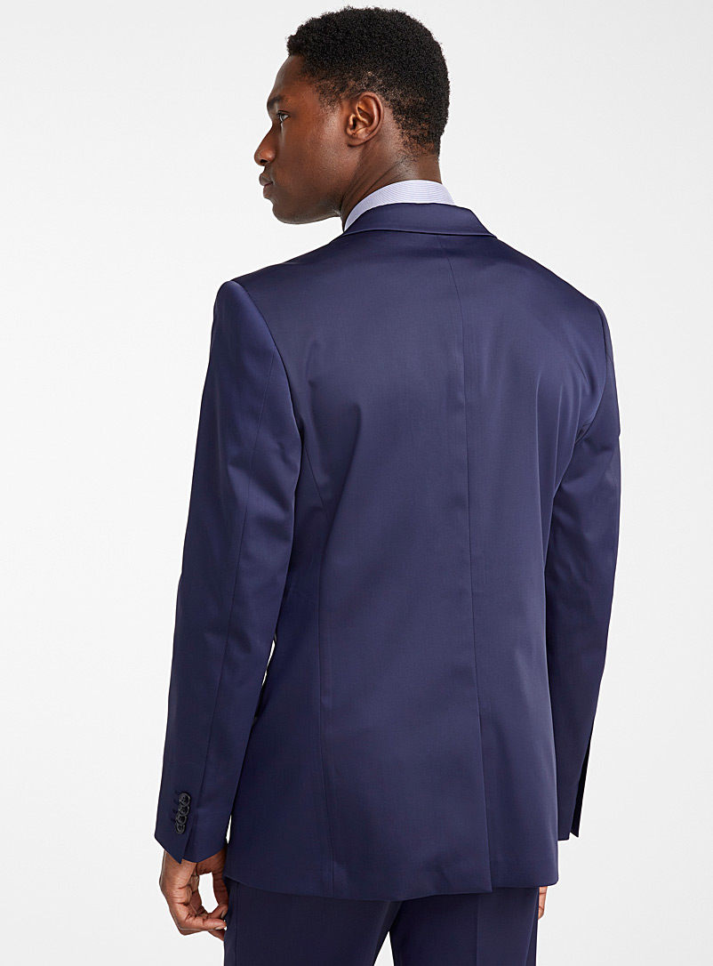 Le 31 Dark Blue Satiny techno jacket  London fit - Semi-slim for men