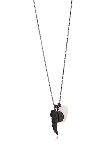 Pendant trio matte necklace