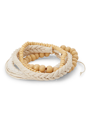Le bracelet multi naturel  Ensemble de 5