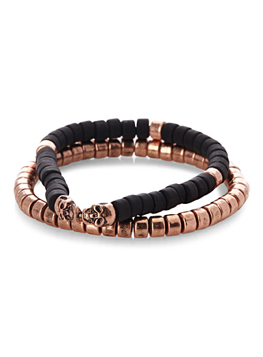 Copper accent bracelet  Set of 2