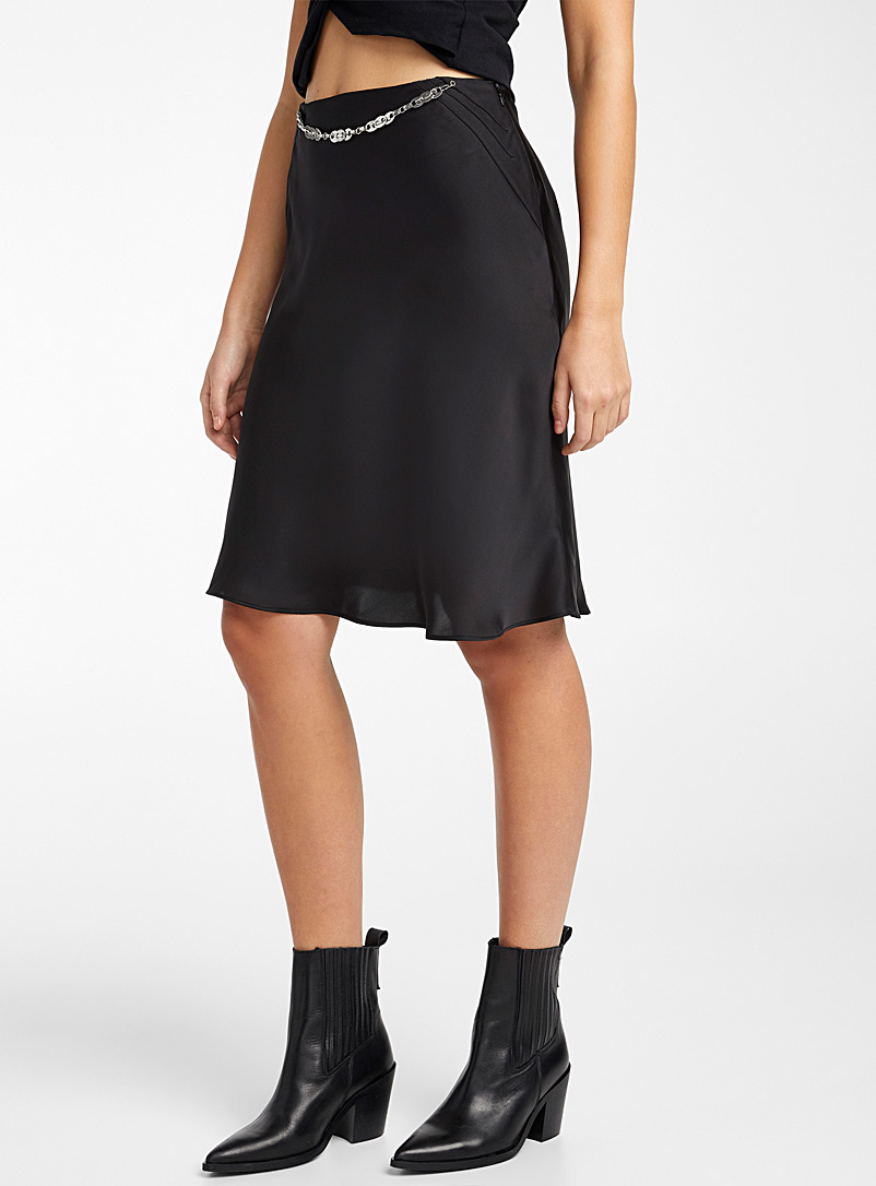 Paco Rabanne Black Satin skirt for women