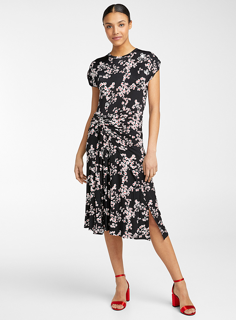 Paco Rabanne Black Floral print dress for women