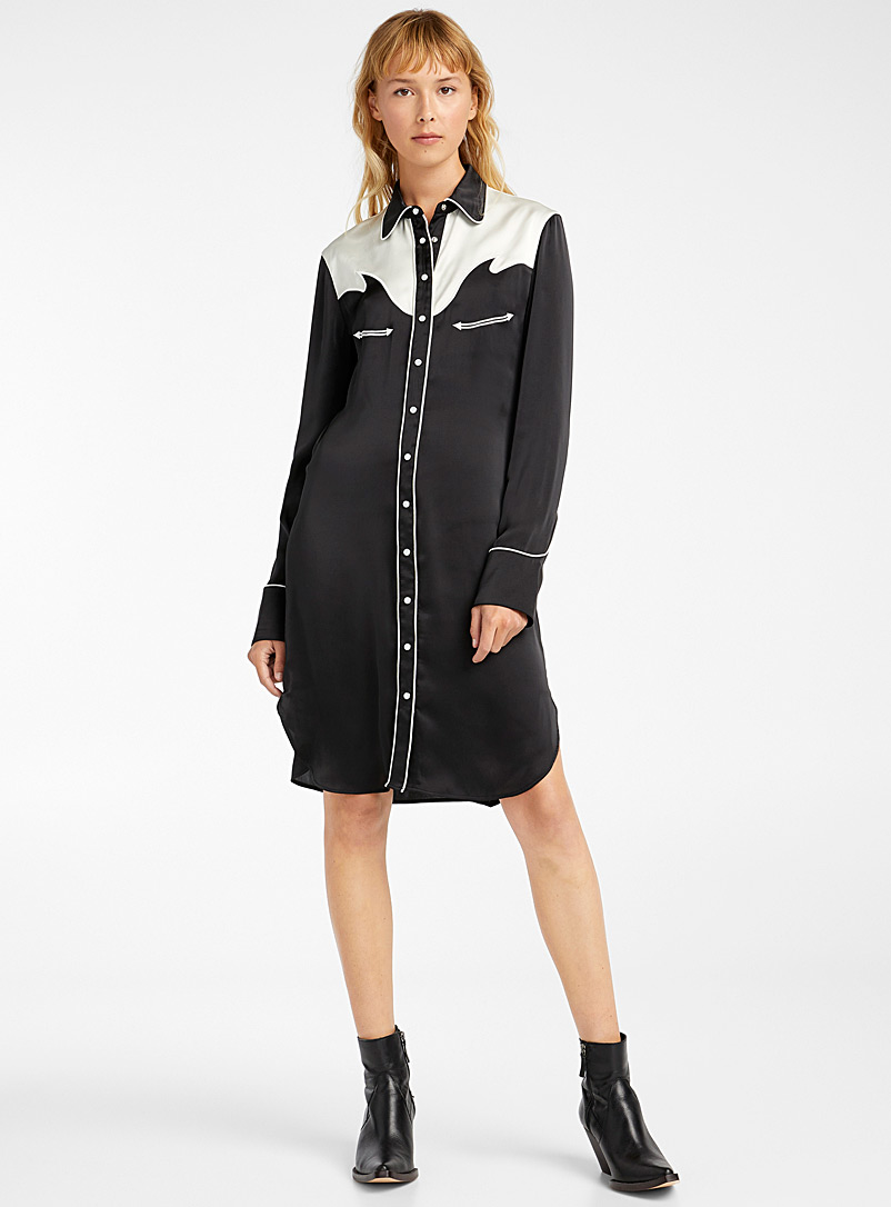 Paco Rabanne Black Western shirtdress for women
