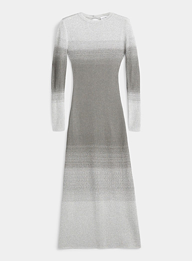Paco Rabanne Silver Long-sleeve metallic dress for women
