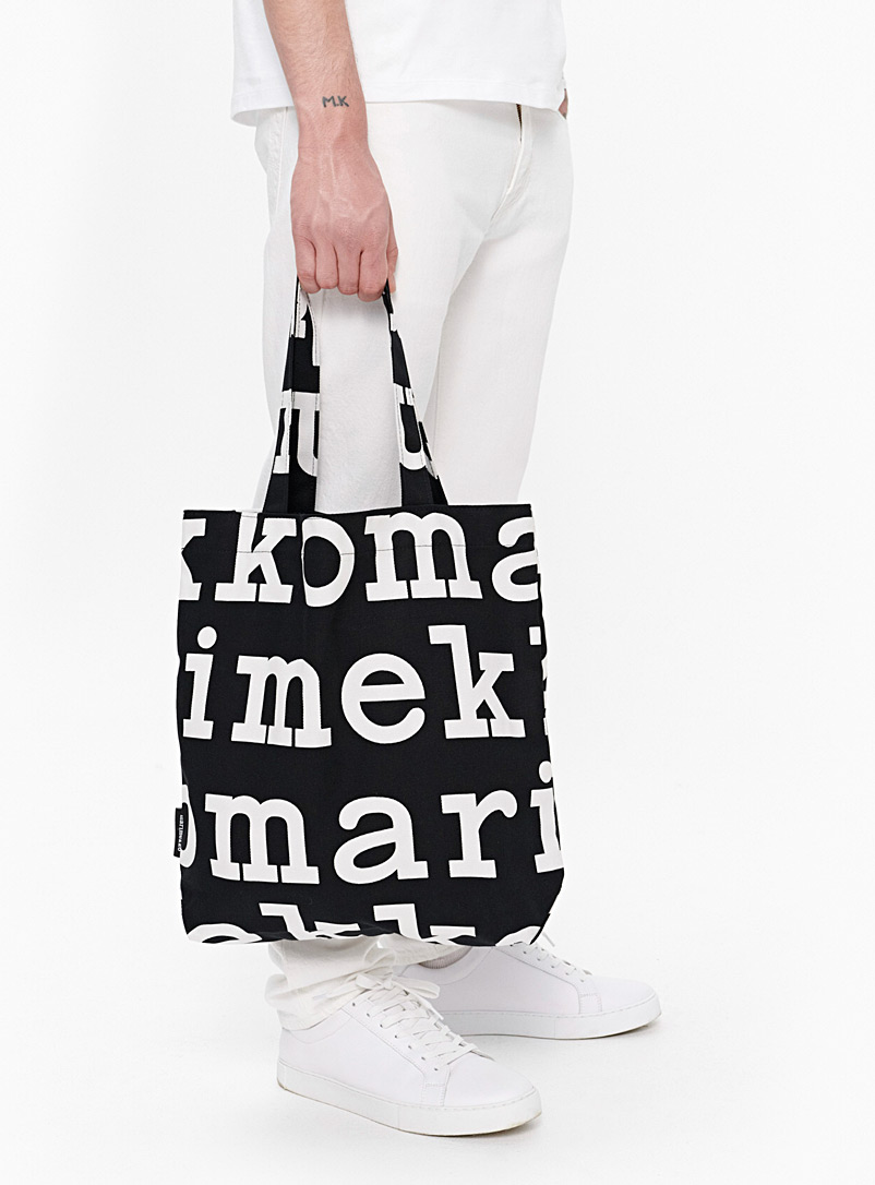 Marimekko Kioski Black and White Notko tote for women