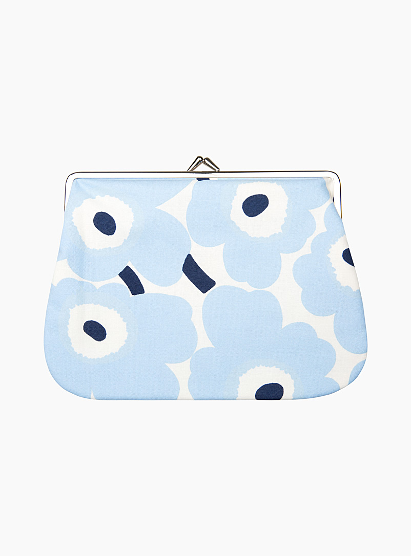 Marimekko Kioski Baby Blue Puolikas Kukkaro Mini Unikko clutch for women
