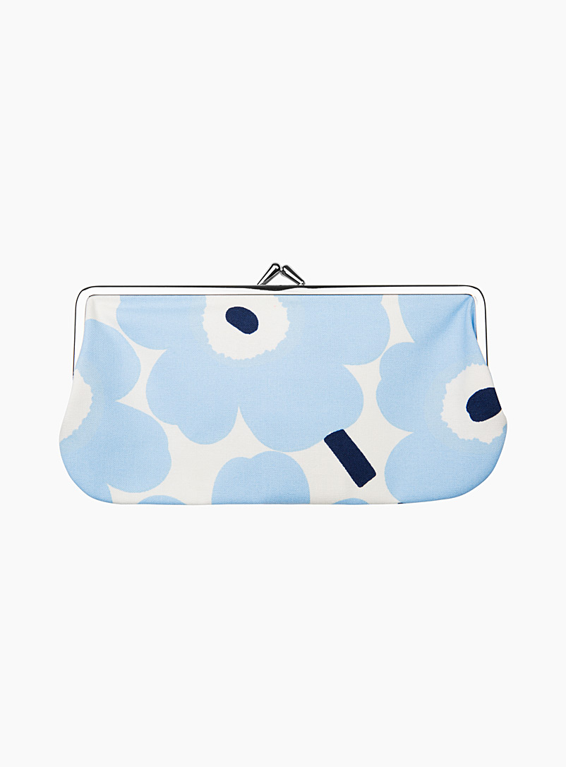 Marimekko Kioski Baby Blue Silm?lasi Kukkaro Mini Unikko bag for women