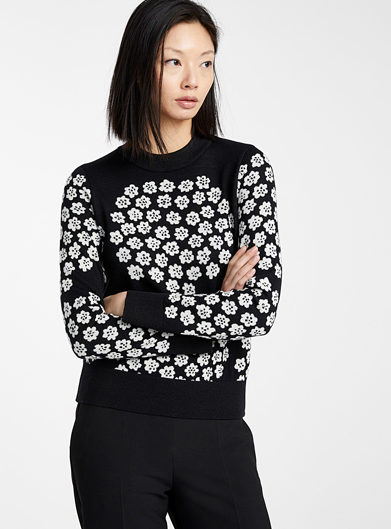 Marimekko Black and White Luode Puketti sweater for women