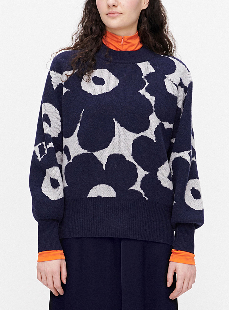 Marimekko Blue Kietoa Unikko sweater for women