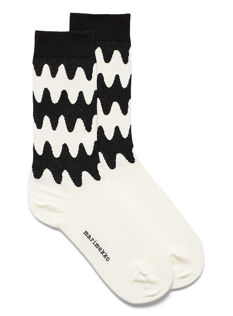 Marimekko Black and White Salla Lokki socks Women for women
