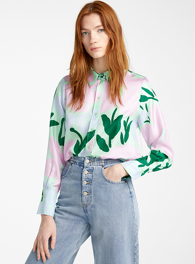 Marimekko Purple Toiveikas Talkoot blouse for women