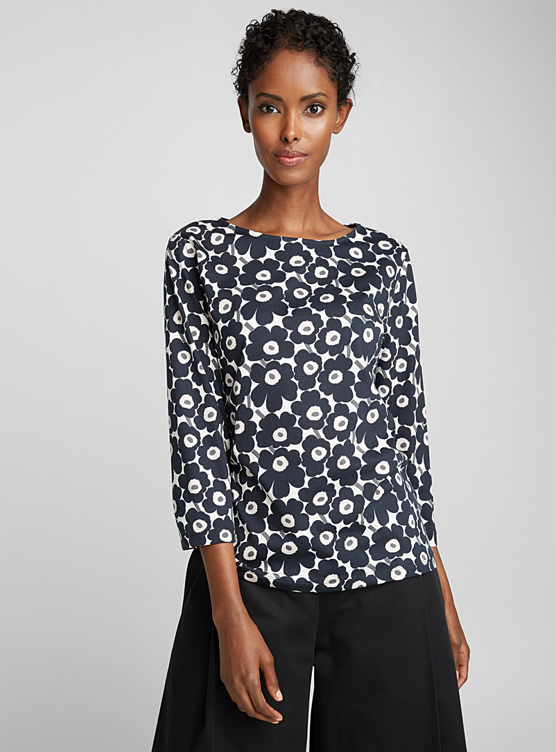 Ilma Unikko top - Marimekko - Black and White