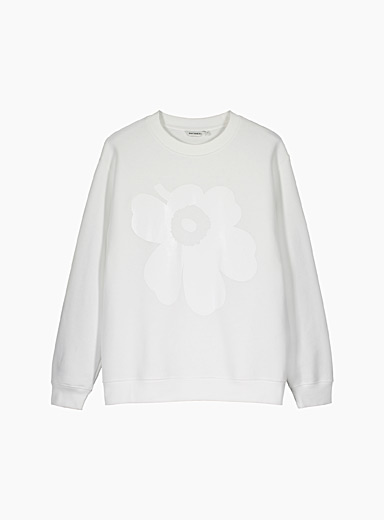 Marimekko Kioski White Lohkare Unikko sweatshirt for women