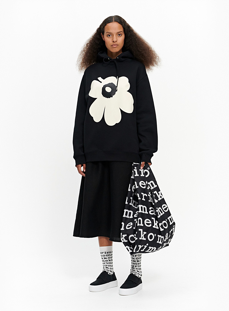 Marimekko Kioski Black Runoja Unikko sweatshirt for women