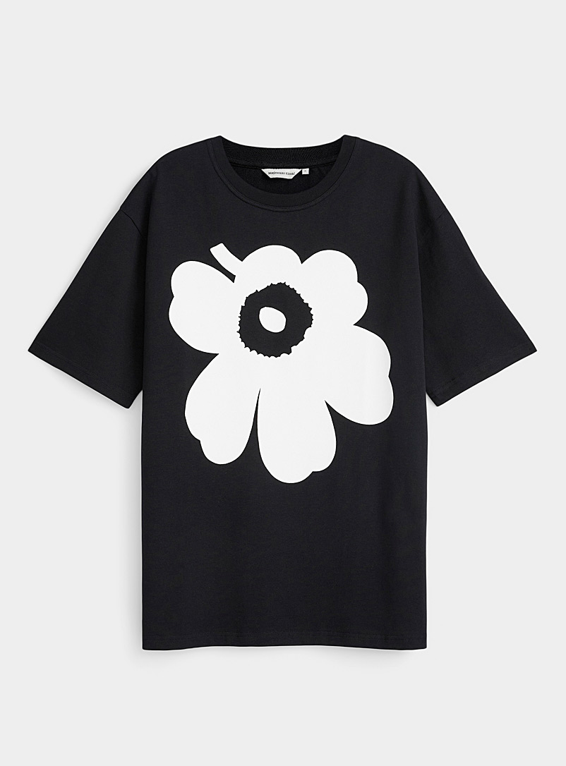 Marimekko Kioski Black and White Isoh Unikko T-shirt for women