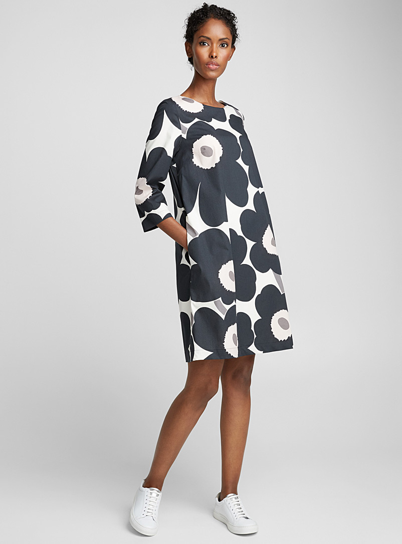 Unelma Unikko dotted dress - Marimekko - Black and White