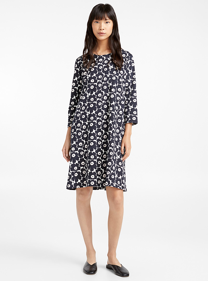 Aretta Pieni Unikko II dress - Marimekko - Patterned Grey
