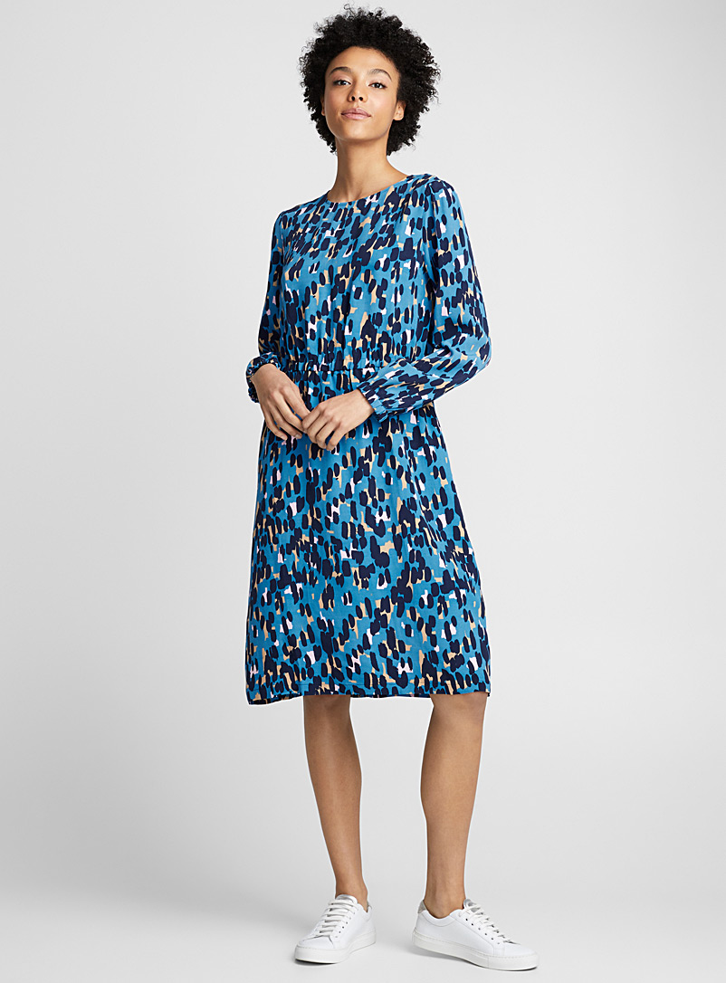 Matkue Kaski dress - Marimekko - Patterned Blue