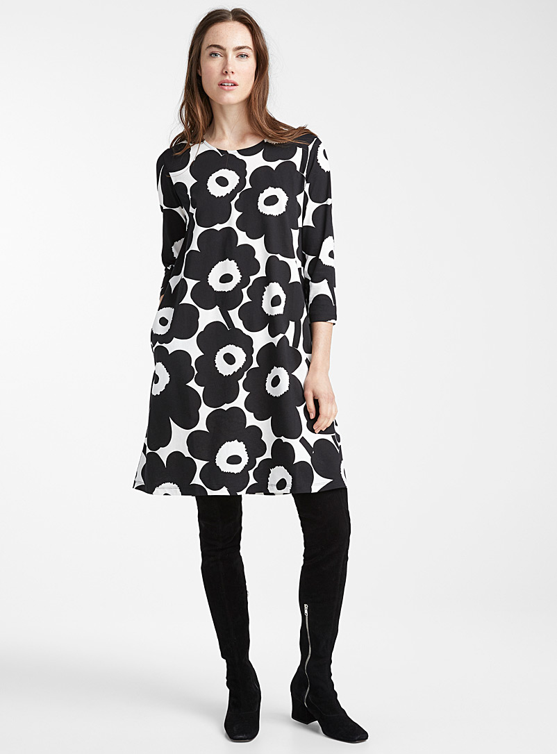 Two-tone Aretta dress - Marimekko - Black and White