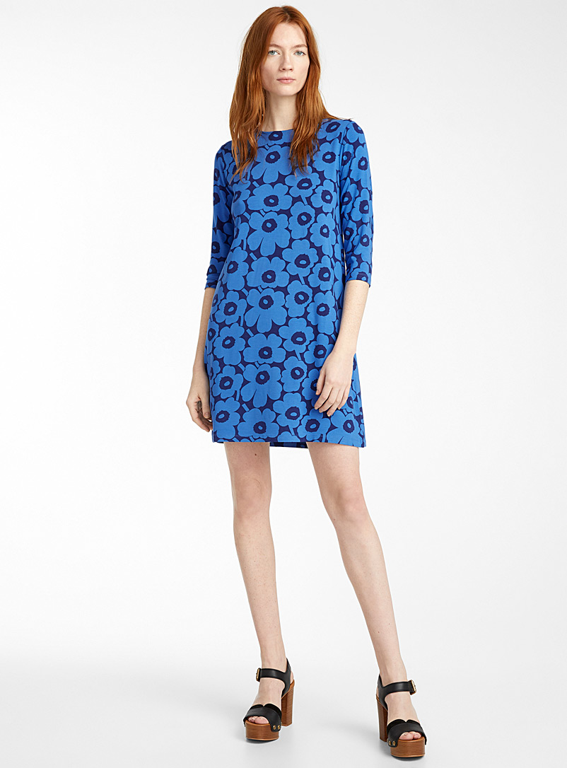 Marimekko Blue Hymyile Mini Unikot dress for women