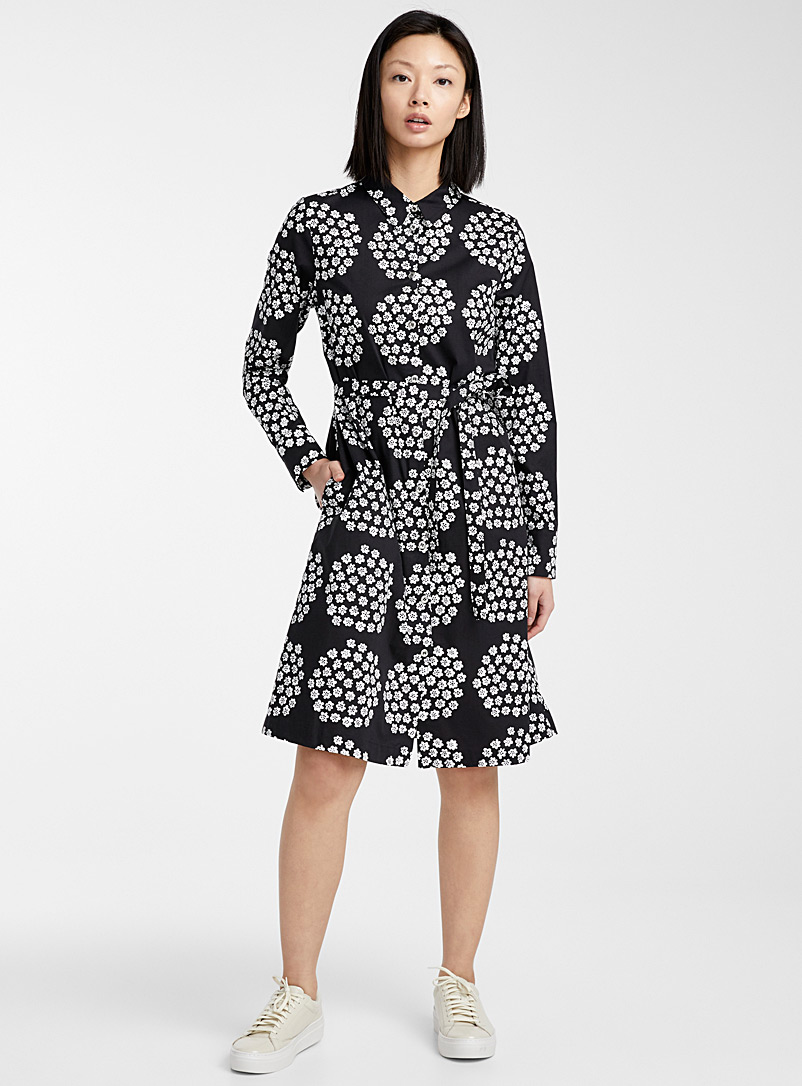 Marimekko Black and White Ylväs Puketti dress for women