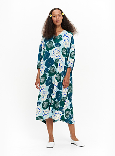 Marimekko Blue Uinua Pieni Pioni dress for women