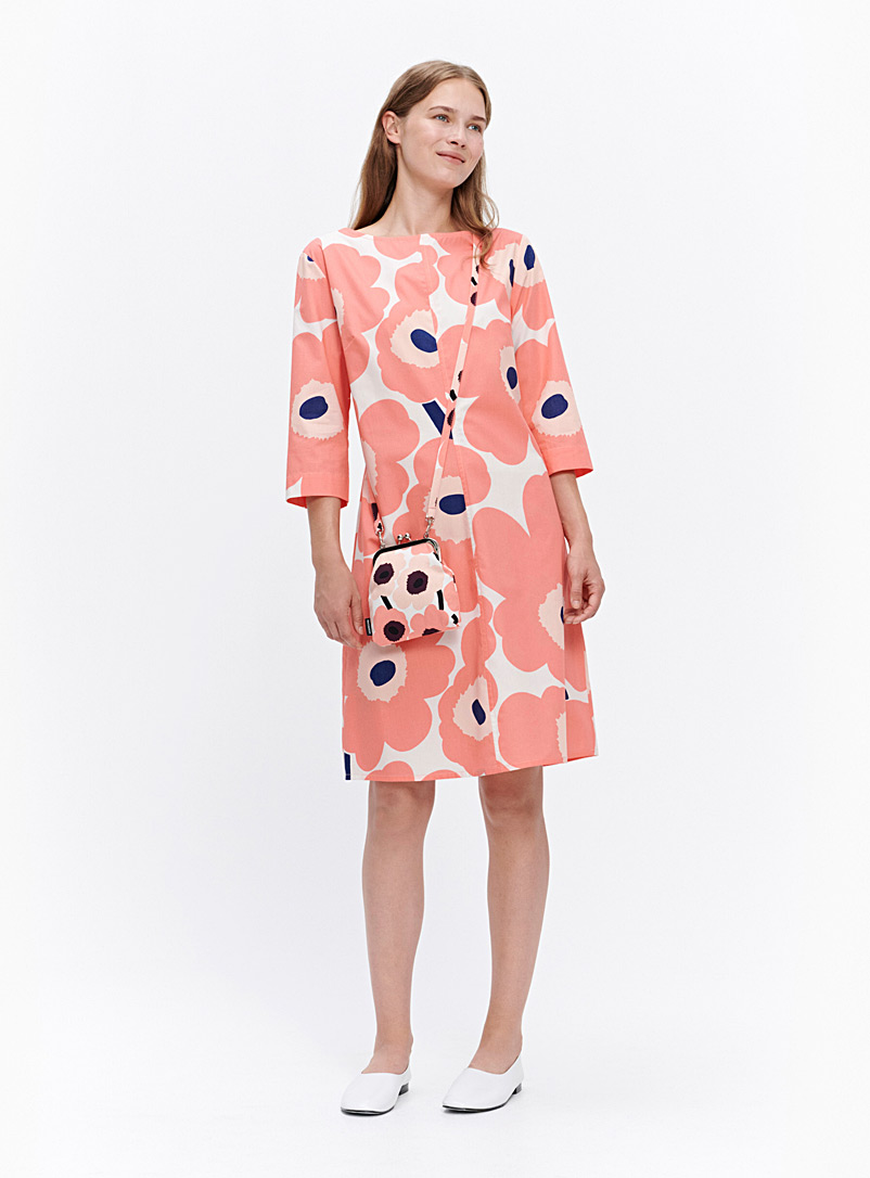 Marimekko Light Orange Taive Unikko dress for women