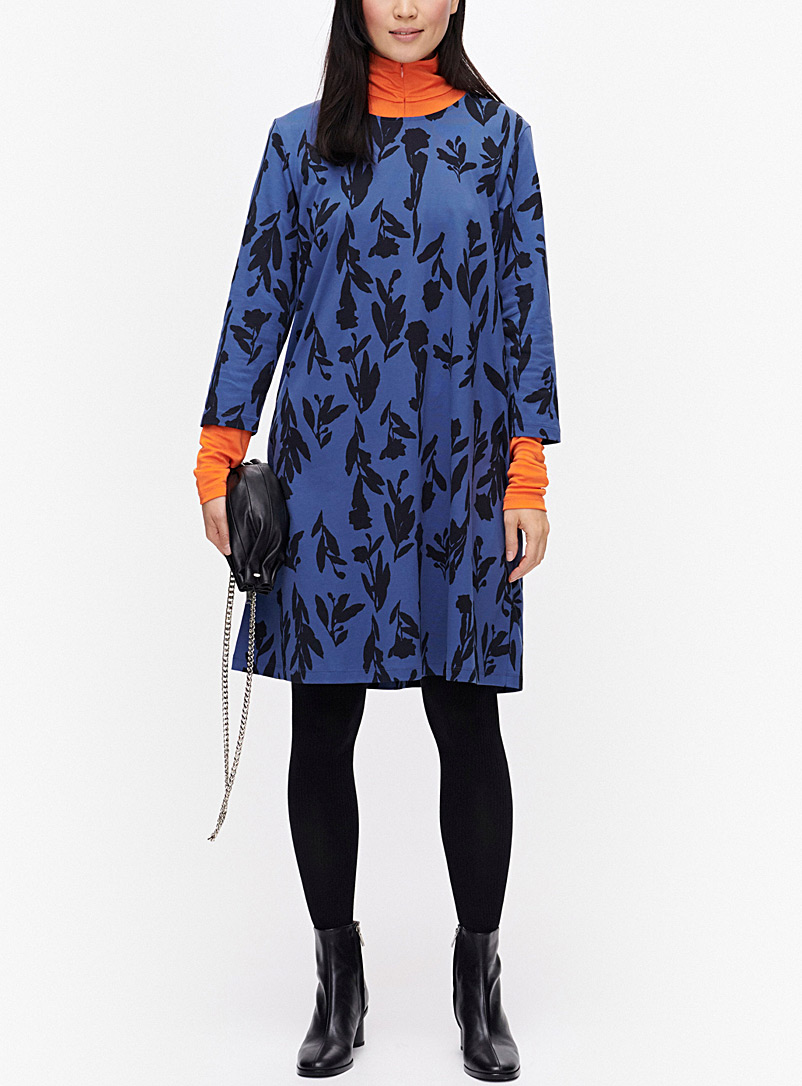 Marimekko Blue Aretta Utukka jersey dress for women