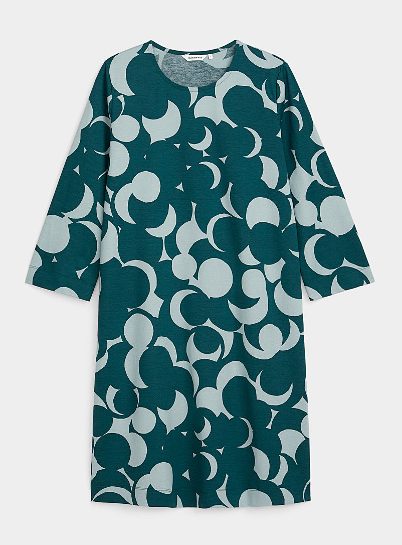 Marimekko Teal Riippumaton Murikat jersey dress for women