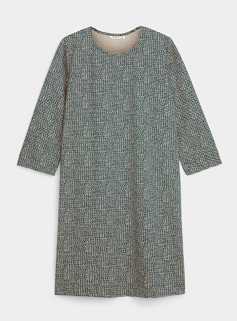 Marimekko Mossy Green Riippumaton Papajo jersey dress for women