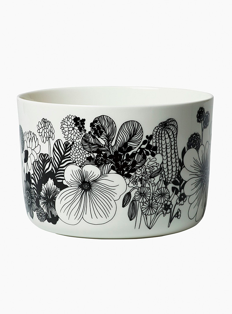 Marimekko Black and White Oiva Siirtolapuutarha serving bowl for women