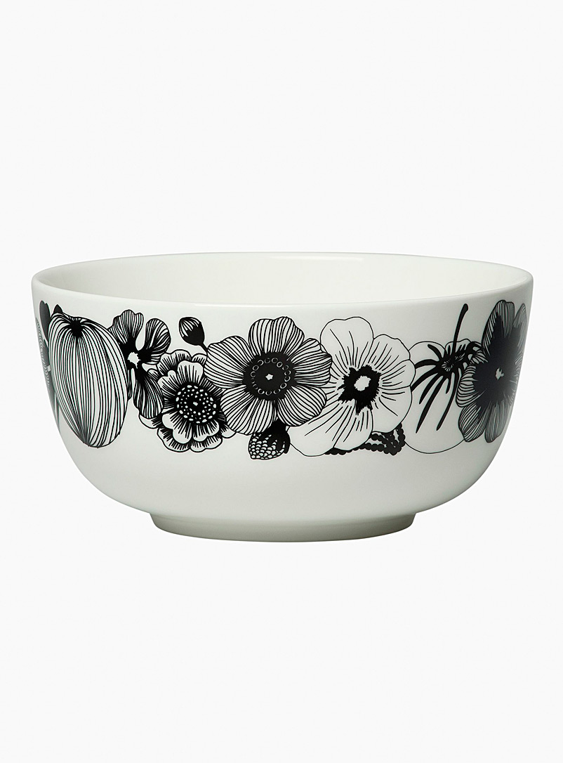 Marimekko Black and White Oiva Siirtolapuutarha large bowl for women