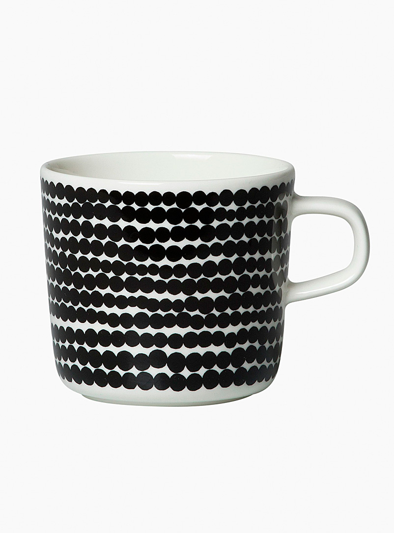 Marimekko Black and White Oiva Siirtolapuutarha small mug for women