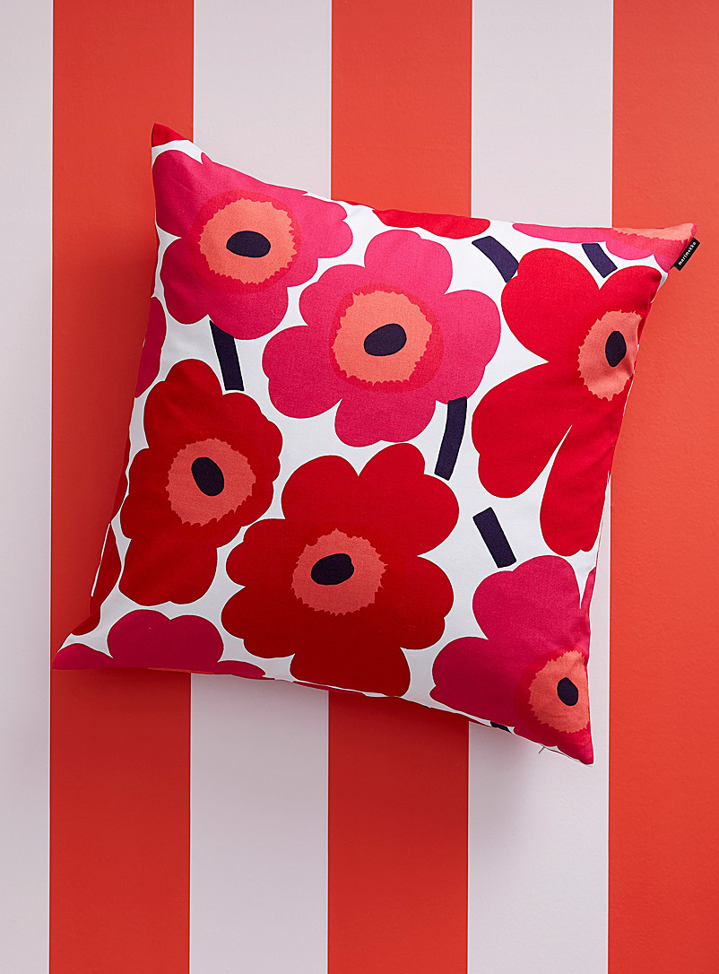 Marimekko Red Pieni Unikko red cushion cover for women