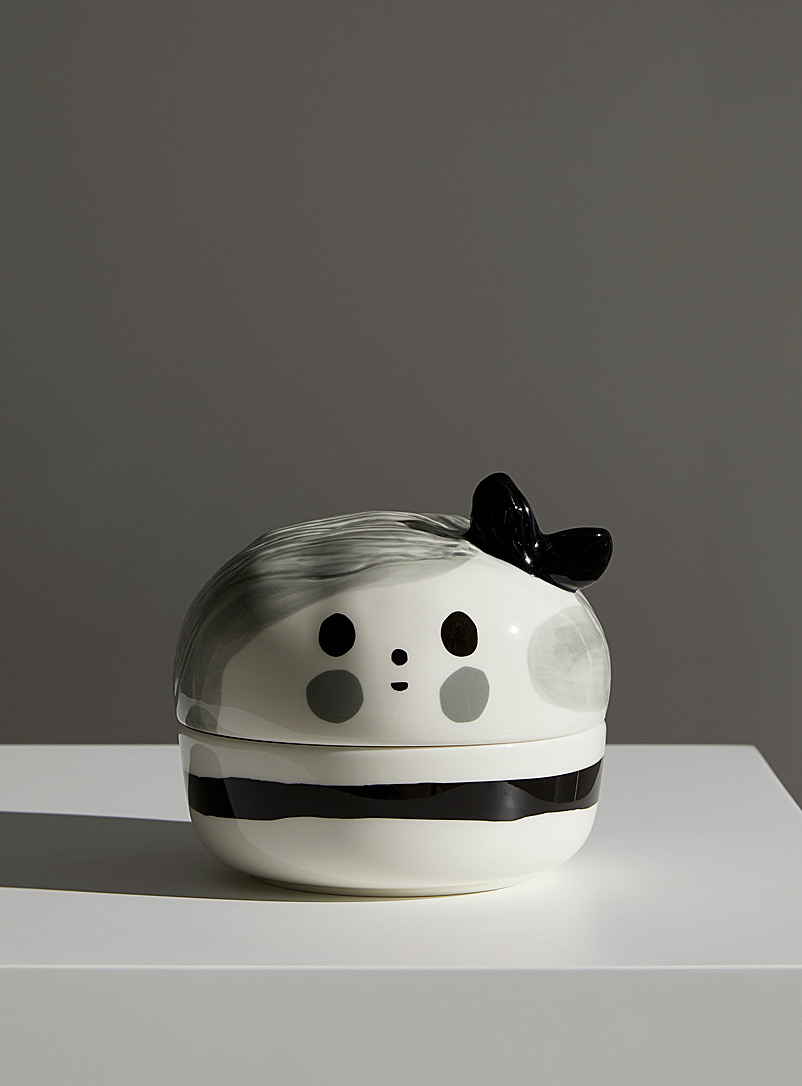 Marimekko Black and White Omppu collectible jar for women