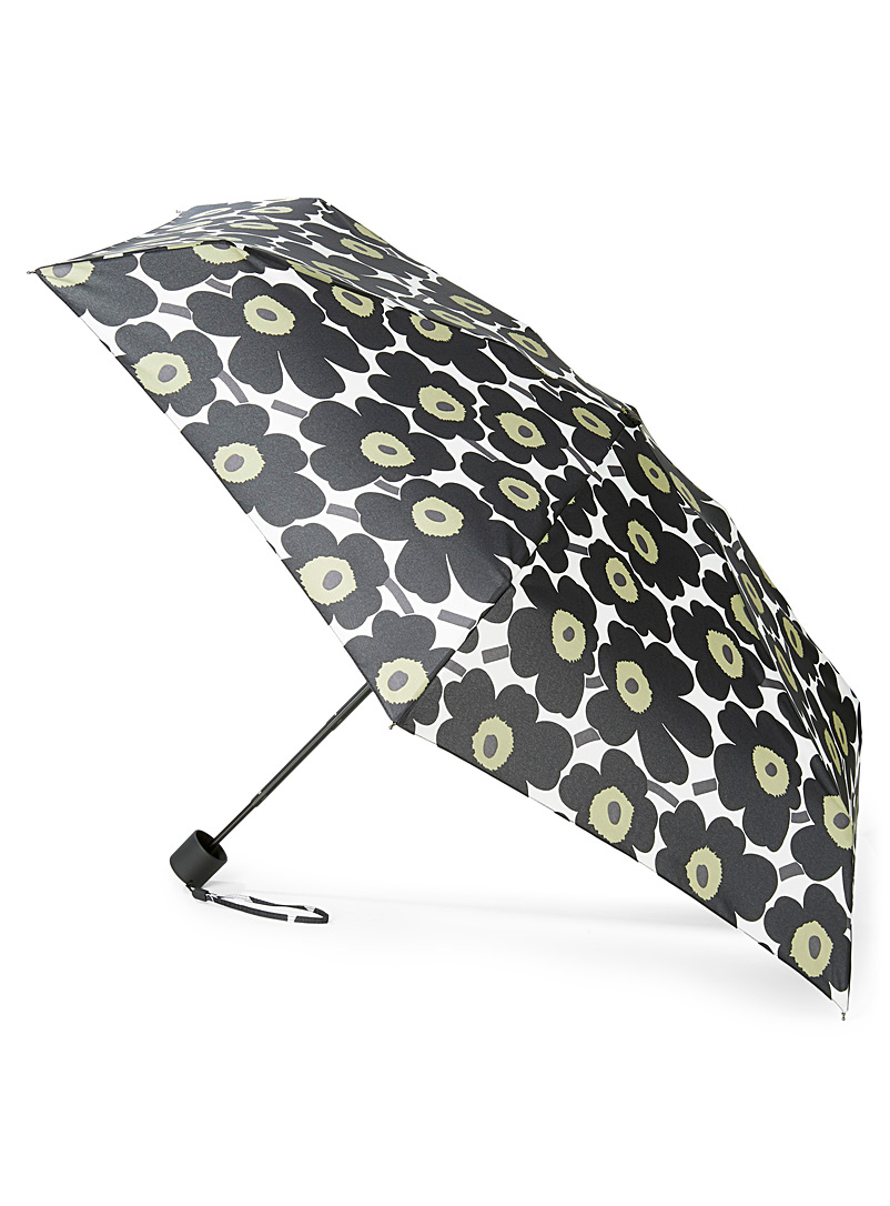Marimekko Patterned White Mini Unikko manual umbrella for women