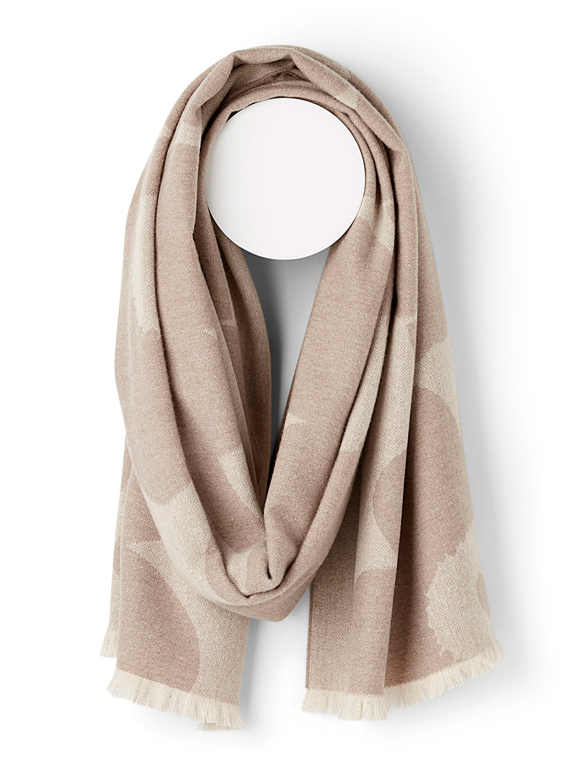 Marimekko Cream Beige Sue Juhla Unikko scarf for women