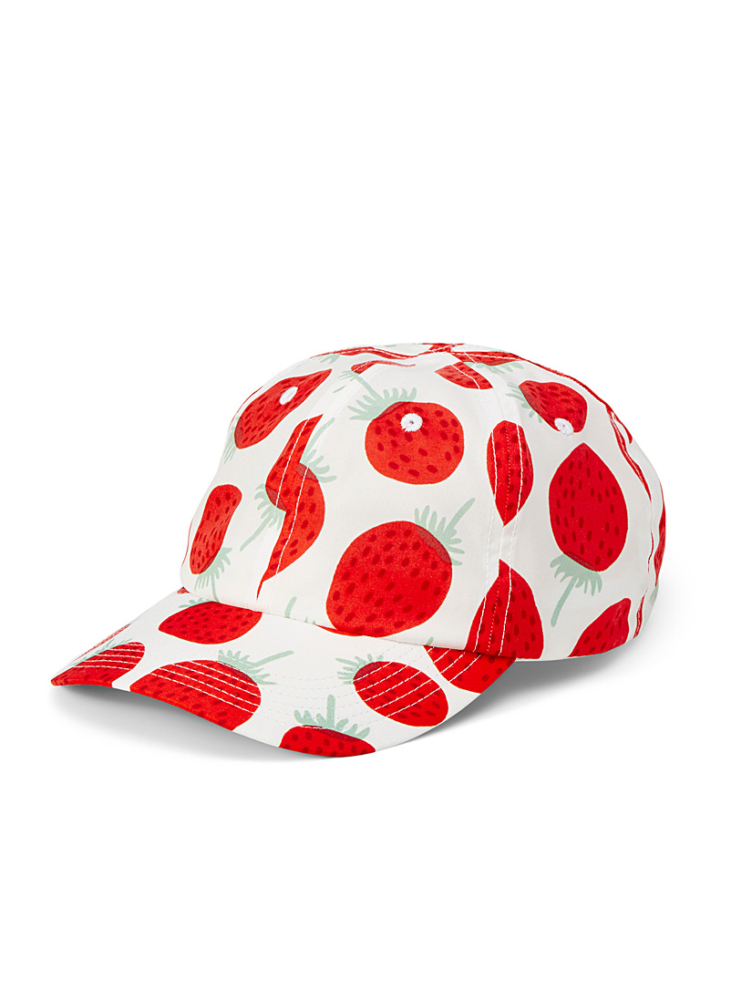 Marimekko Kioski Red Mansikka Varhain cap for women