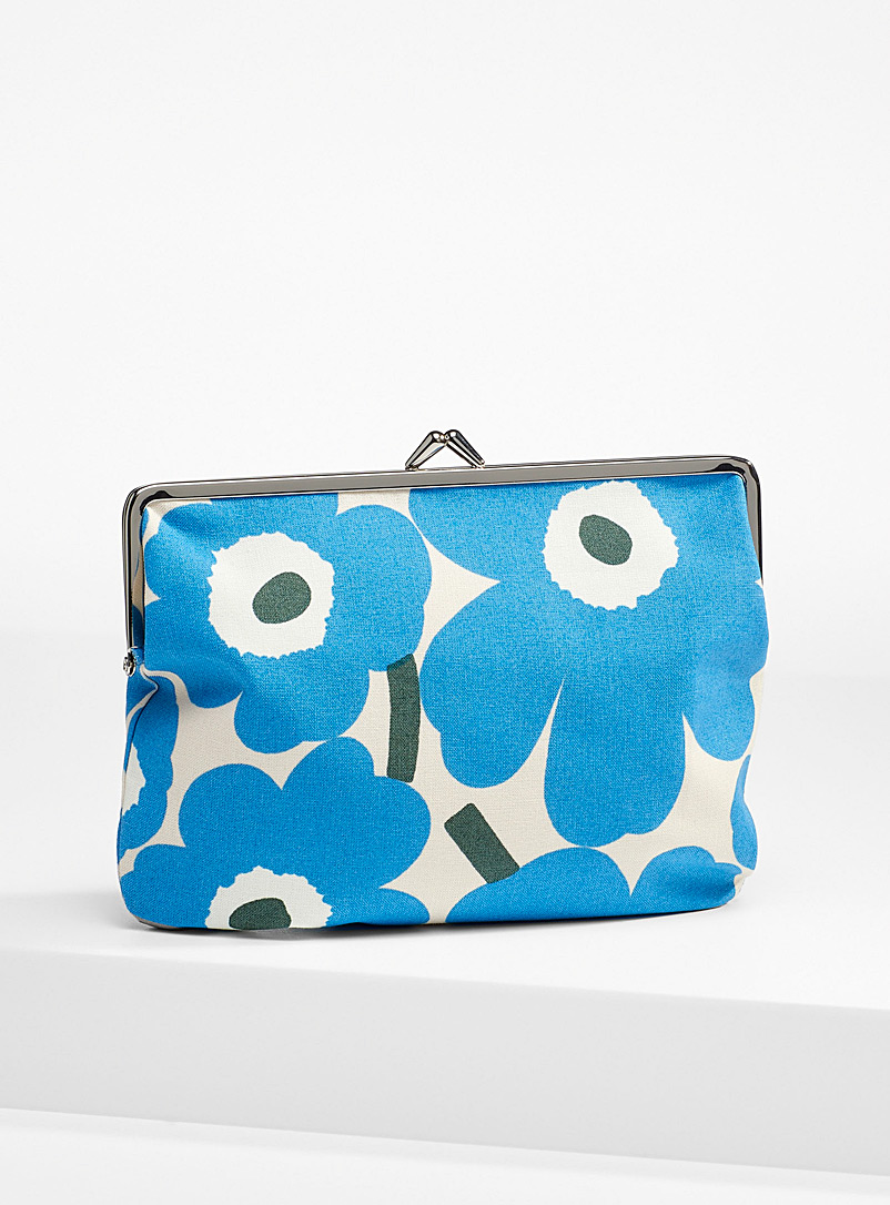 Marimekko Blue Blue Puolikas Kukkaro Mini Unikko purse for women