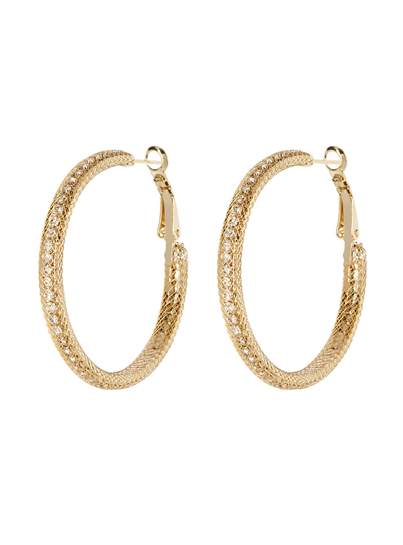 Simons Assorted Crystal trap hoops for women