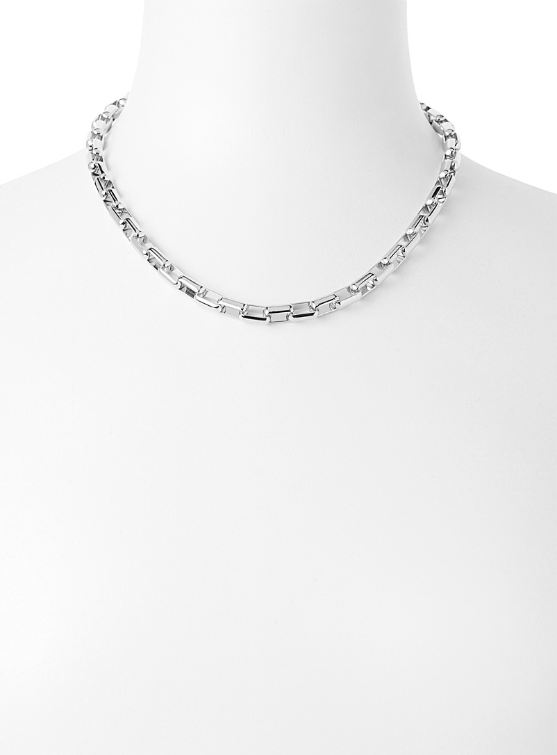 Geo chain choker - Necklaces - Silver