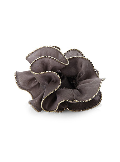 Voile and golden beads scrunchie