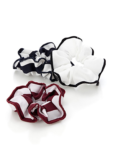 Nautical stripe scrunchies <br>Set of 3
