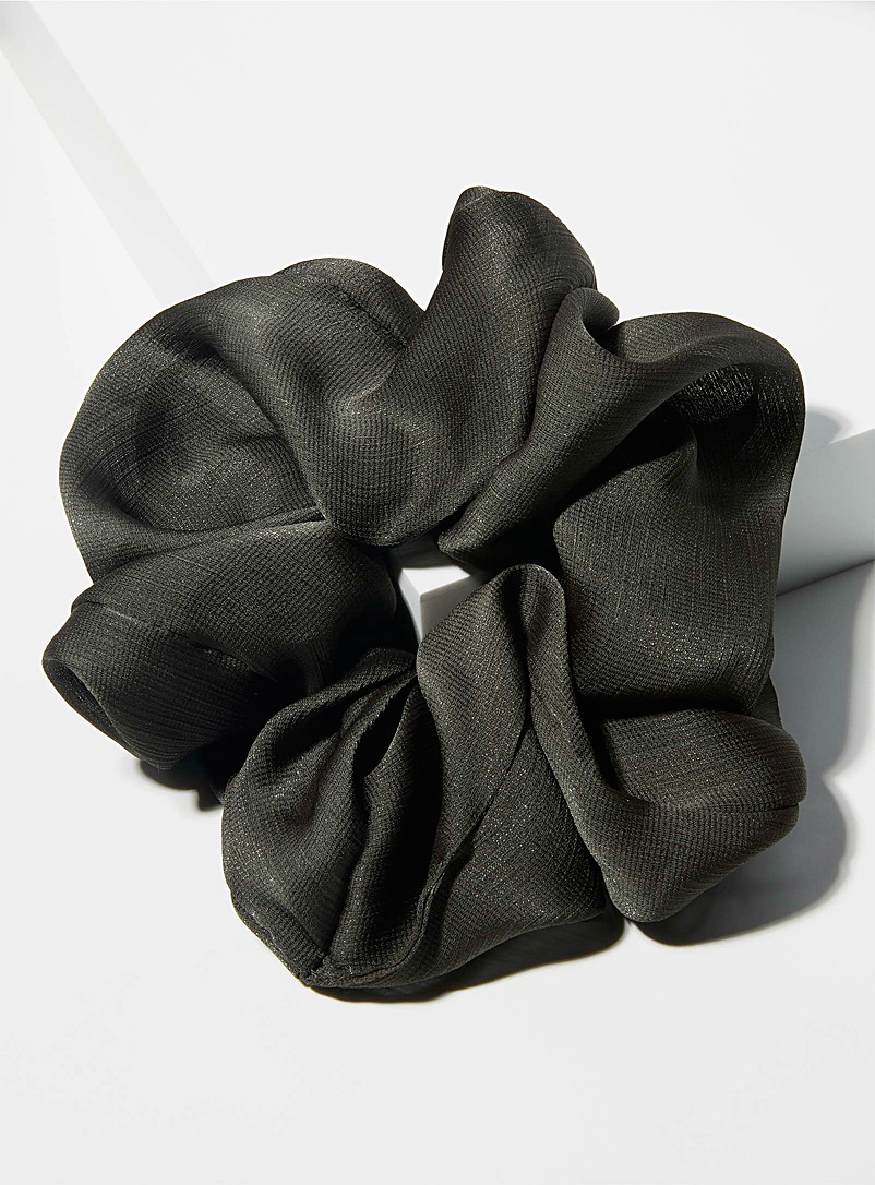 Simons Khaki XXL satiny scrunchie for women