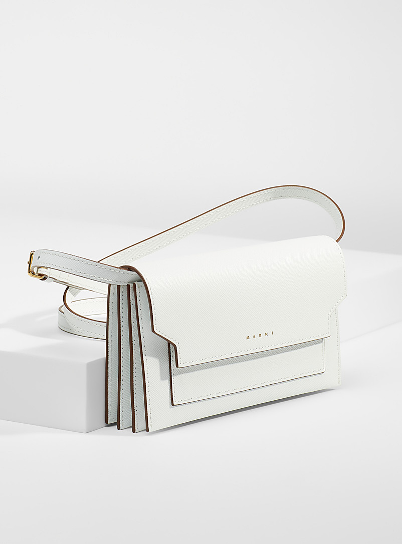 MARNI White Solid white clutch for women