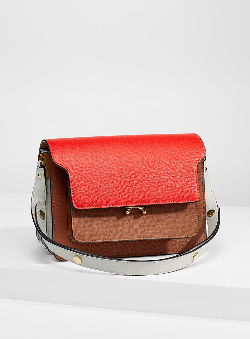 MARNI Patterned Red Colour block Trunk bag for women