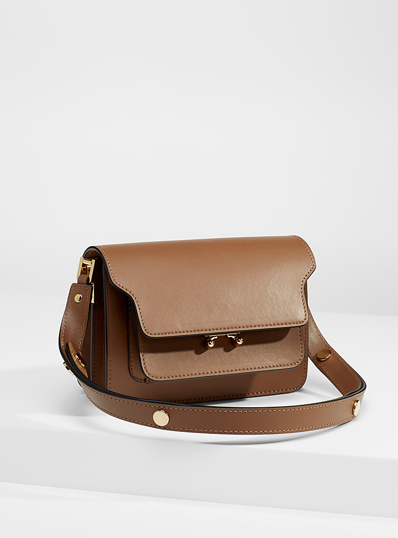 MARNI Patterned Brown Mini Trunk bag for women